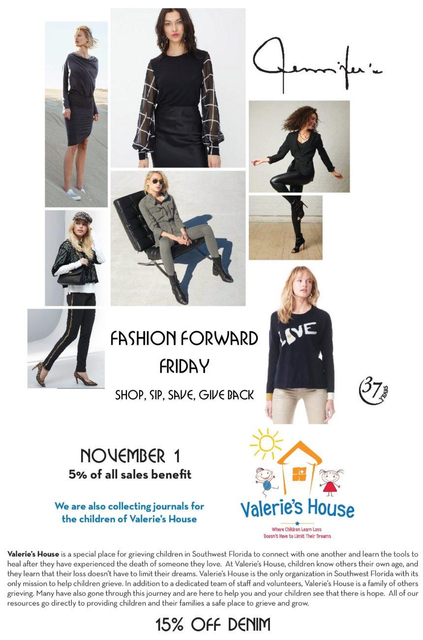 November Fashion Forward Friday Benefits Valerie's House